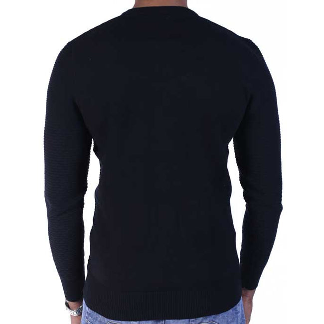 Gents Sweater In Black SKU: SA441-Black
