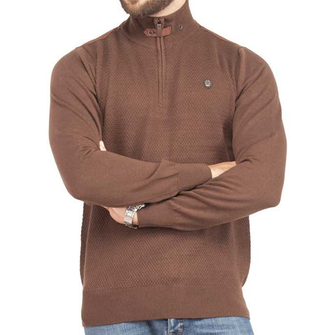 Sweater In D-Brown SKU: SA448-D-BROWN
