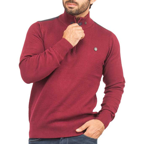 Sweater In Maroon SKU: SA448-MAROON
