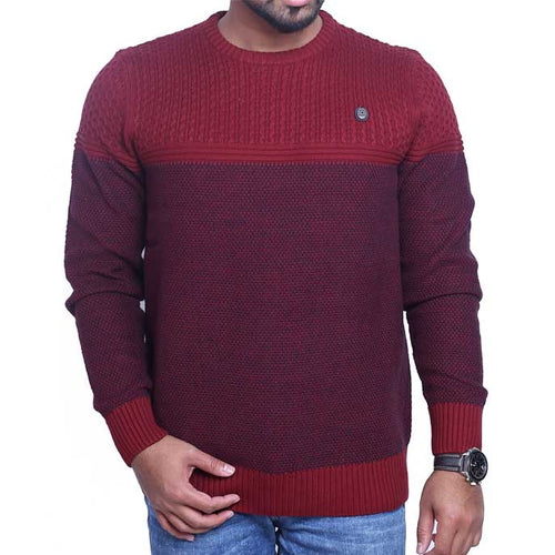 Gents Sweater In Maroon SKU: SA458-MAROON