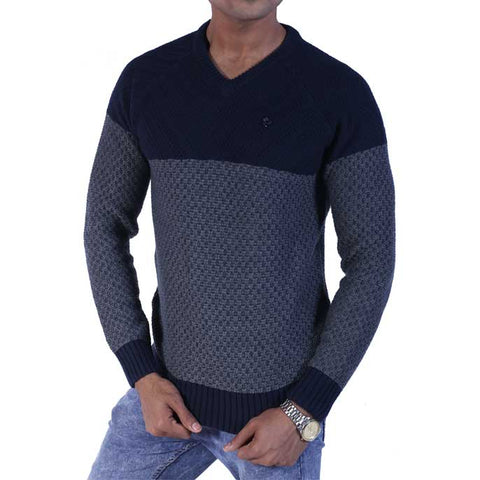 Gents Sweater In Blue SKU: SA464-Blue
