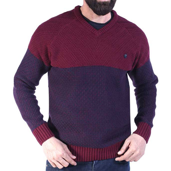 Gents Sweater In Maroon SKU: SA464-Maroon