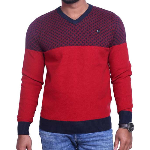 Gents Sweater In Maroon SKU: SA470-MAROON