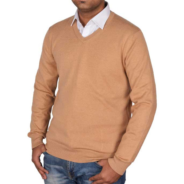 Gents Sweater In Fawn SKU: SA472-FAWN