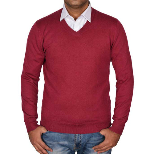 Gents Sweater In Maroon SKU: SA472-MAROON