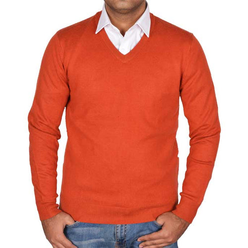 Gents Sweater In Rust SKU: SA472-RUST
