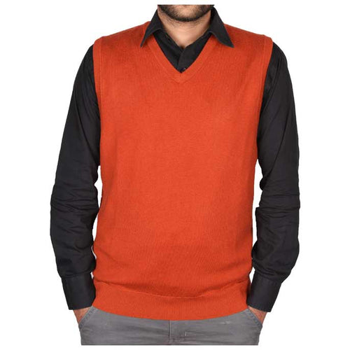 Gents Sweater In Rust SKU: SA473-Rust