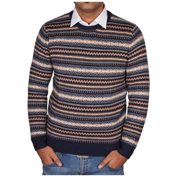 Gents Sweater In Orange SKU: SA474-ORANGE