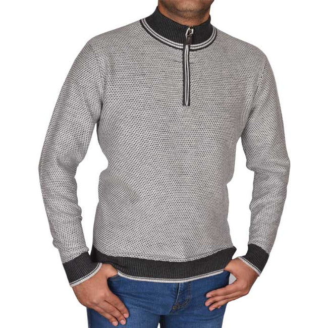 Gents Sweater In L-Grey SKU: SA495-L-GREY