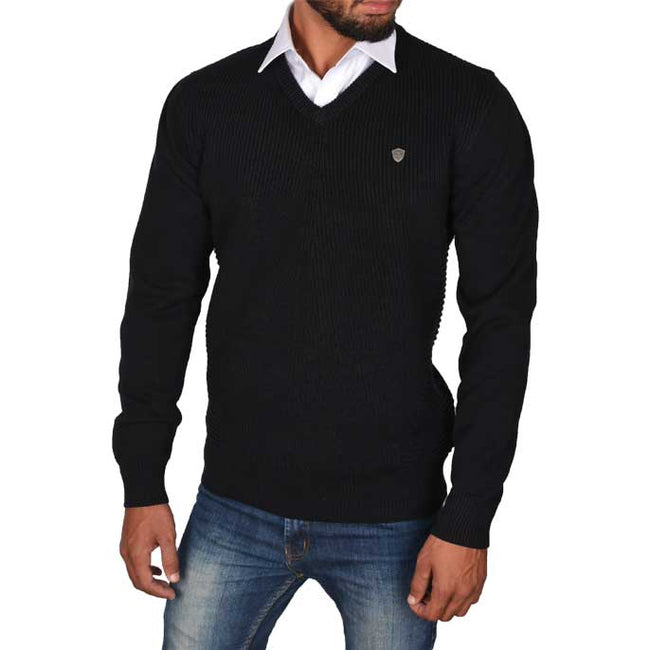 Gents Sweater In Black SKU: SA508-BLACK