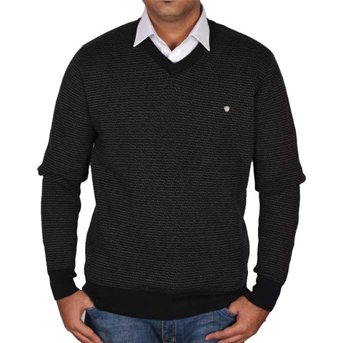Gents Sweater In Black SKU: SA511-BLACK