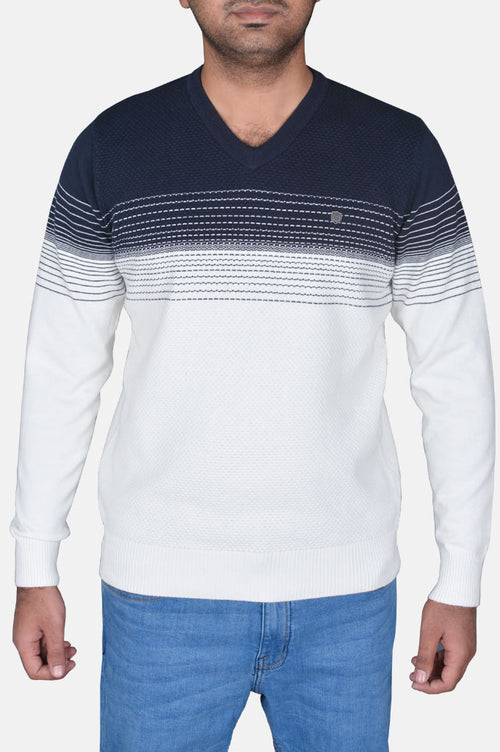 Gents Sweater In White SKU: SA528-White
