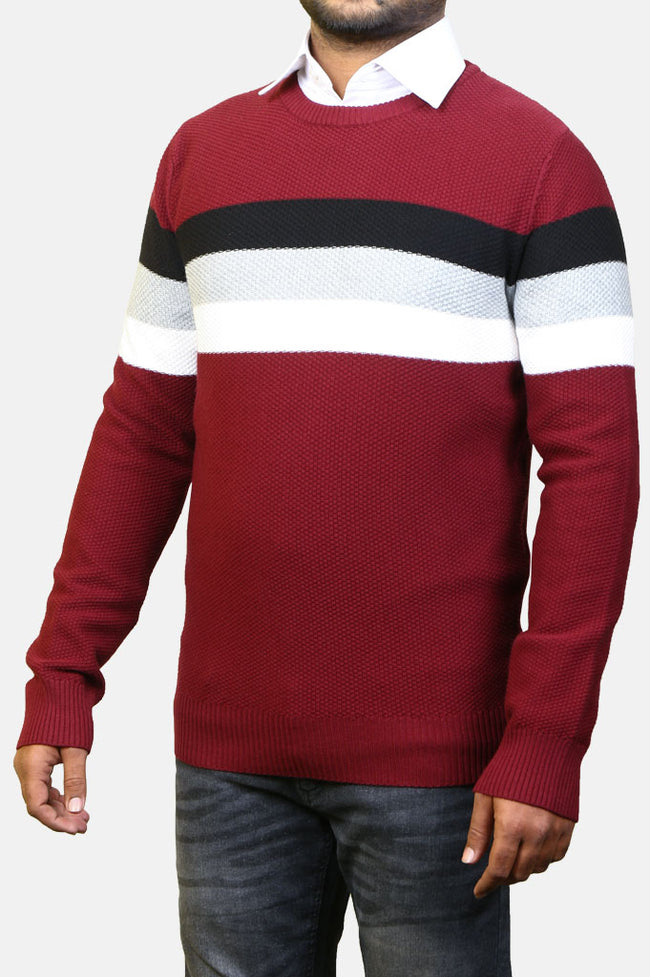 Gents Sweater SKU: SA547-Maroon