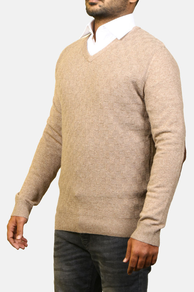 Gents Sweater SKU: SA550-Beige