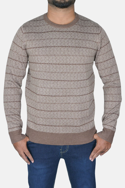 Gents Sweater In L-Brown SKU: SA552-L-Brown