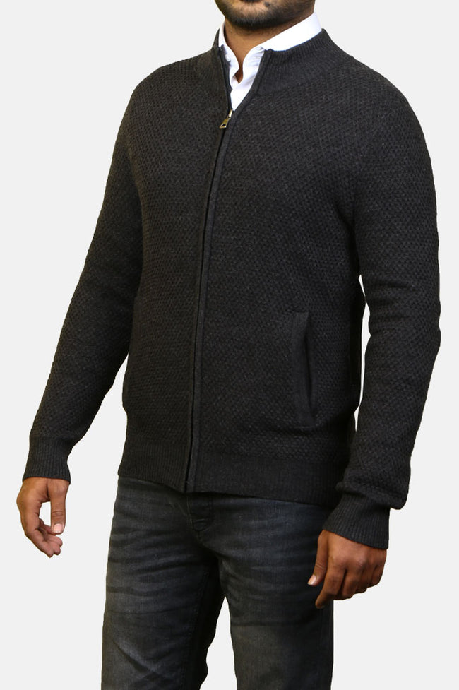 Gents Sweater SKU: SA557-D-Grey