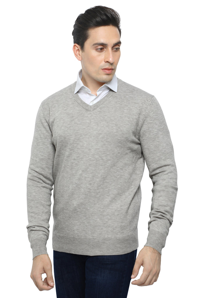 Gents Sweater In Stone SKU: SA558-STONE - Diners