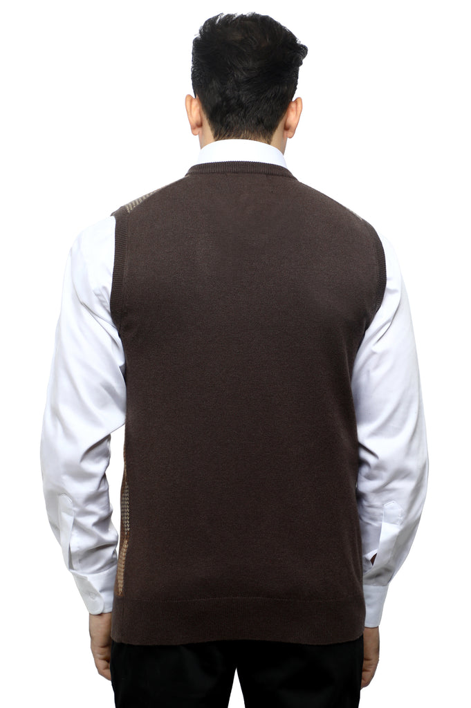 Gents Sweater (Sleeveless) In Brown SKU: SA563-BROWN