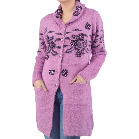 Woman Sweater In Purple SKU: SL488-Purple