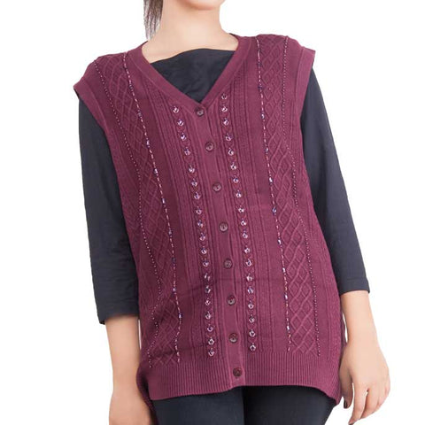 Woman Sweater In SKU: SL508-Maroon