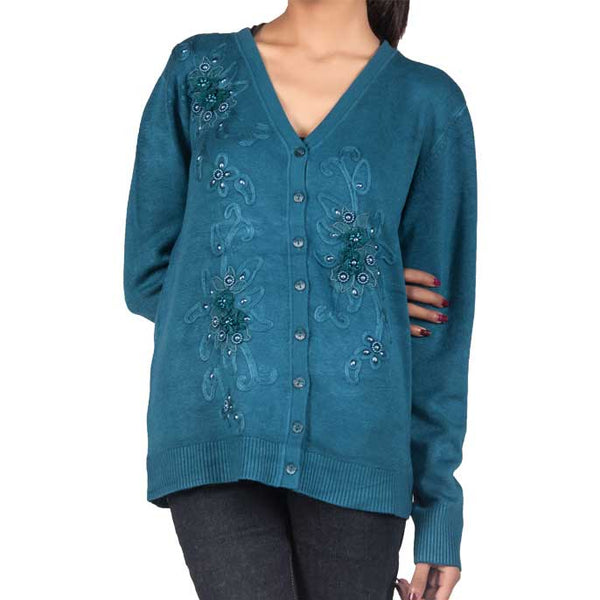 Woman Sweater In M-Blue SKU: SL511-M-Blue