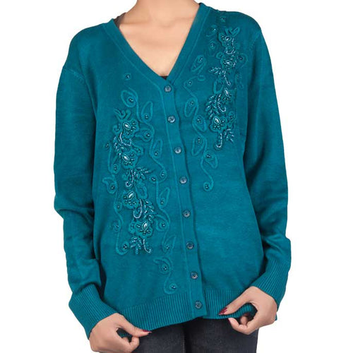 Woman Sweater In M-Blue SKU: SL512-M-Blue