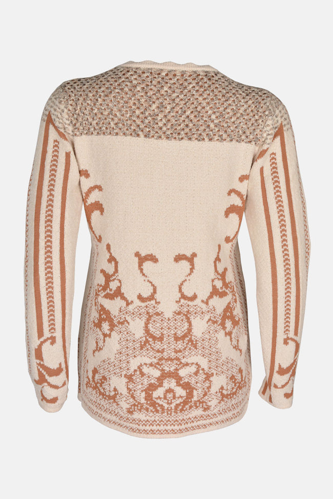 Ladies Sweater In Cream SKU: SL800-Cream
