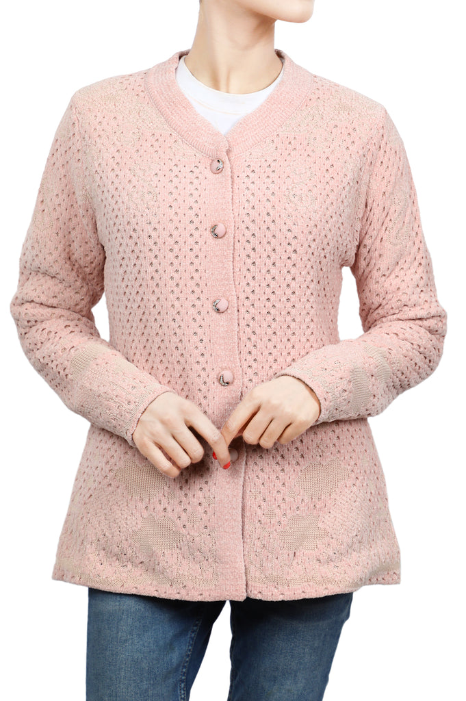 Ladies Sweater In L-Pink SKU: SL896-L-PINK