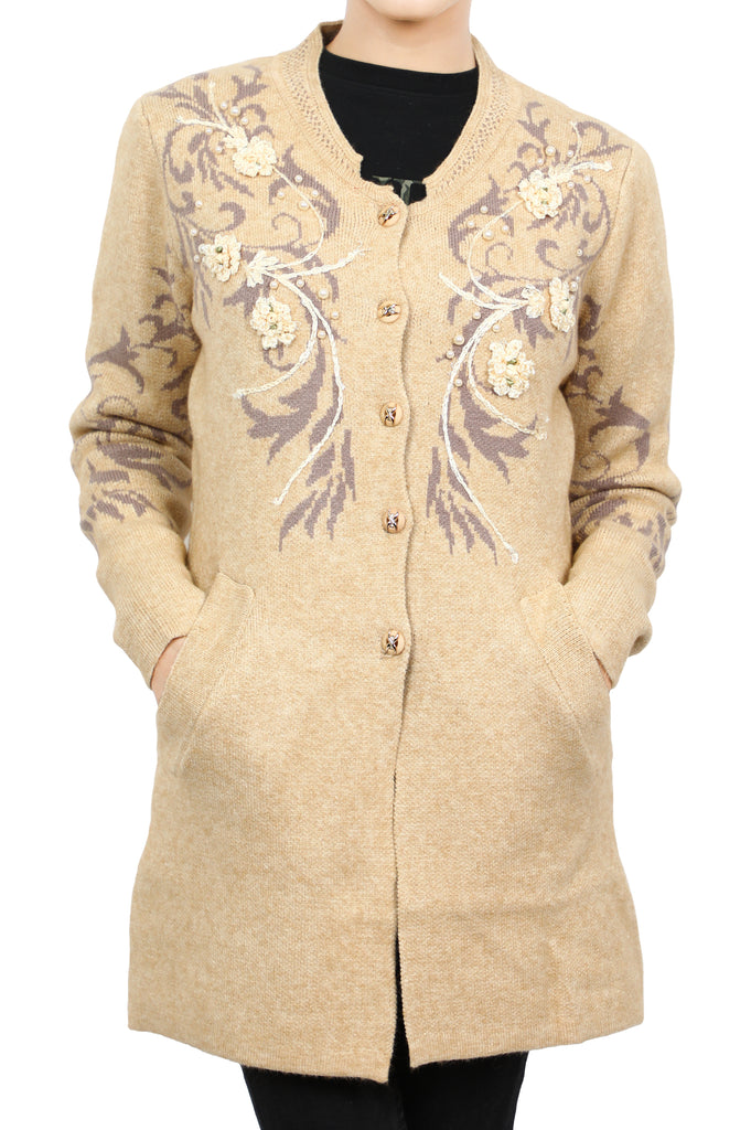 Ladies Sweater In Beige SKU: SL901-BEIGE - Diners