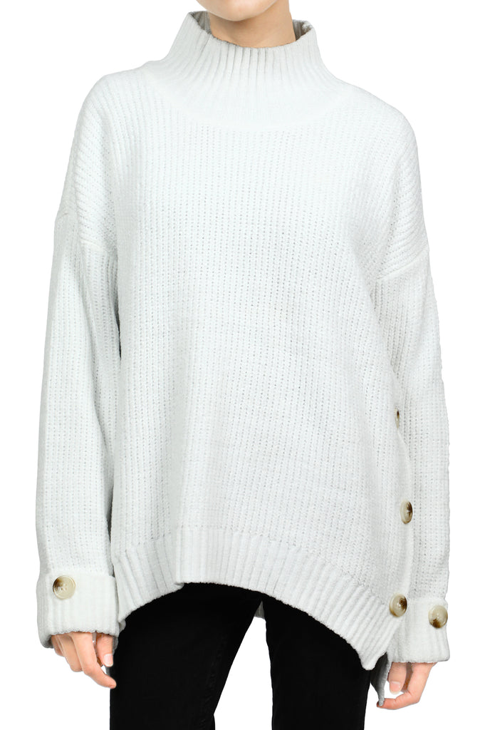 Ladies Sweater In White SKU: SL906-WHITE - Diners