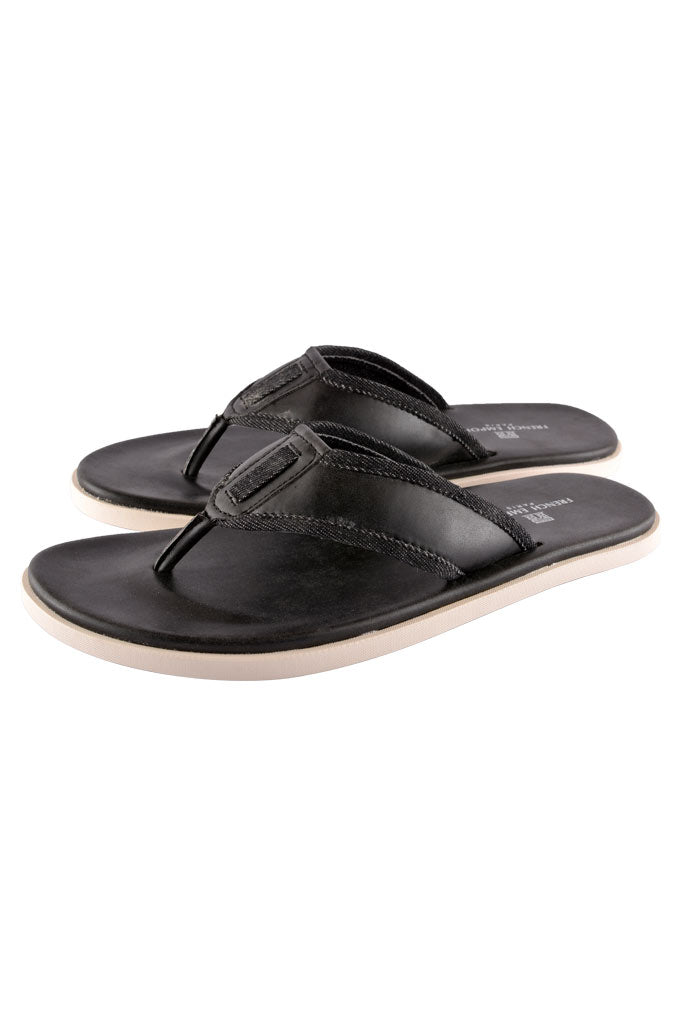 Slippers For Men in Black SKU: SLP0032-BLACK