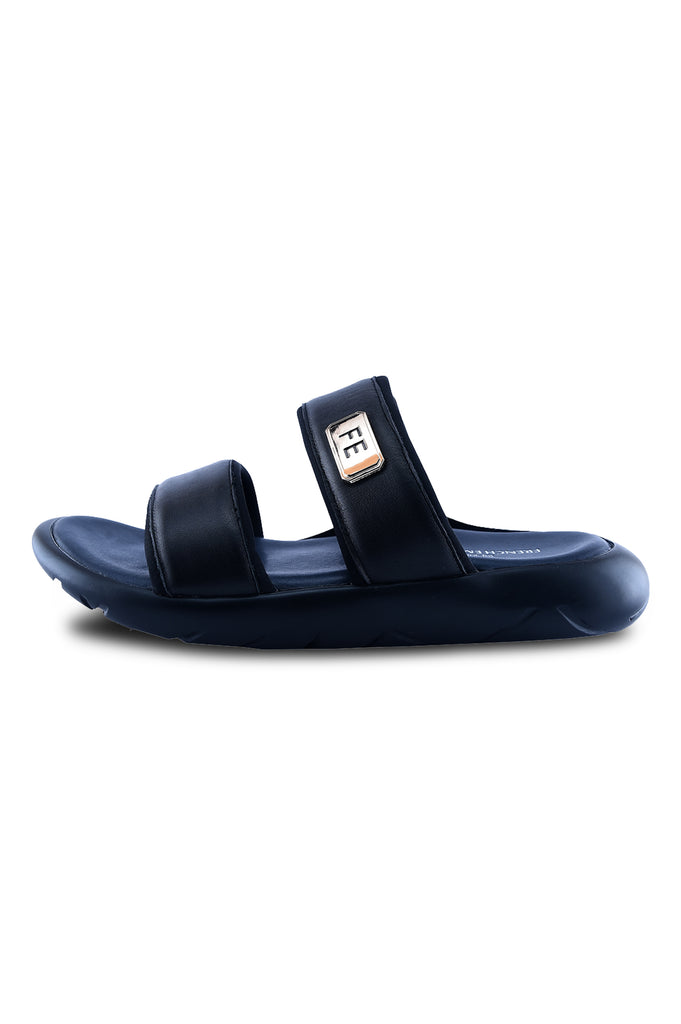 Slippers For Men in Black SKU: SLP0047-BLACK - Diners