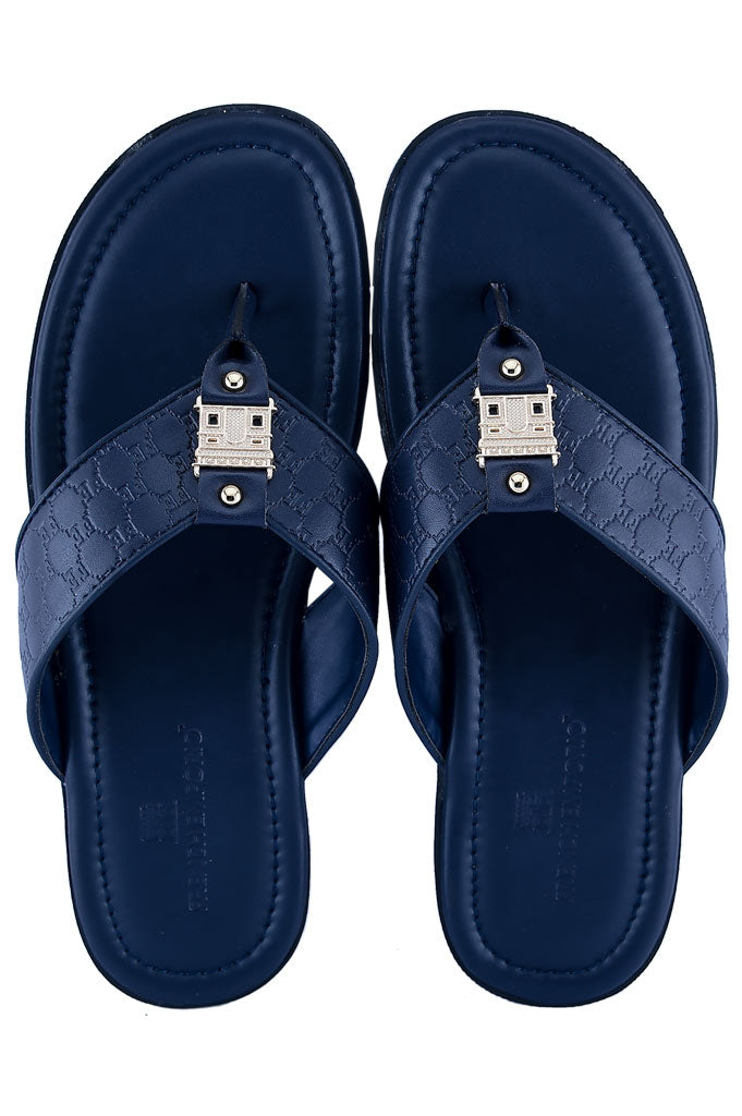 Slippers For Men in D-Blue SKU: SLP0060-D-BLUE