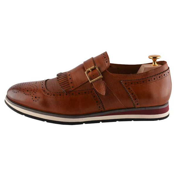Formal Shoes For Men in L-Brown SKU: SMF-0068-L-BROWN