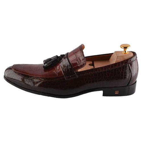 Formal Shoes For Men in Wine SKU: SMF0098-WINE