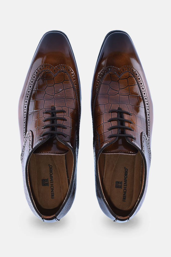 Formal Shoes For Brown: SMF0126-Brown