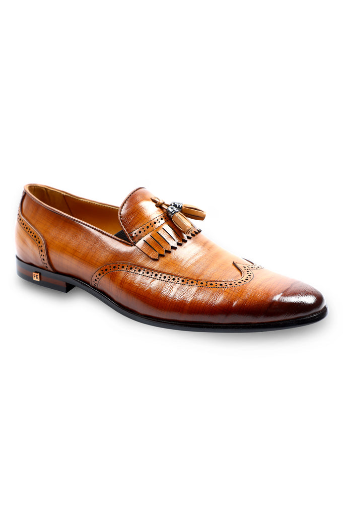 Formal Shoes For Men in Tan SKU: SMF-0148-TAN - Diners