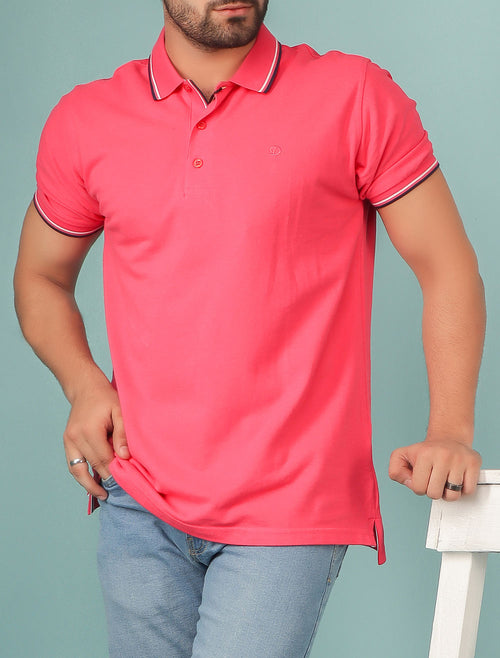 Diner's Men's Polo T-Shirt SKU: NA622-D-Pink