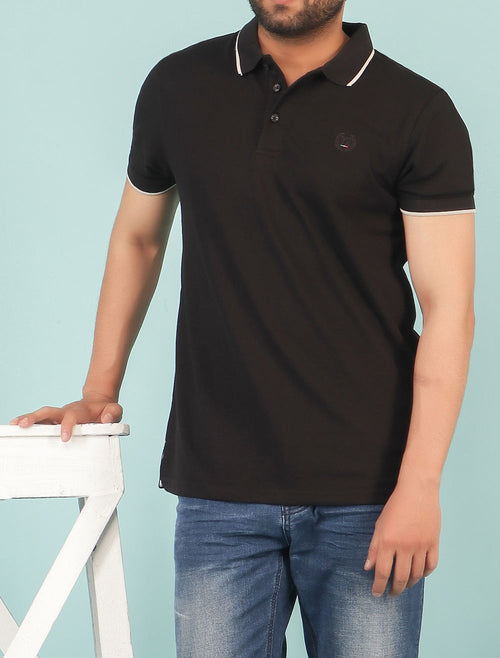 Diner's Men's Polo T-Shirt SKU: NA625-BLACK