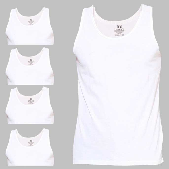 Sando Vest Pack Of 5 SKU: VA111-White