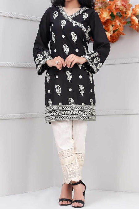 Women Stitched Kurti (WKL0298-BLACK)