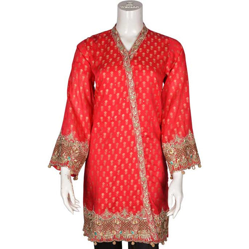 Women Stitched Kurti In Red (WKF0008-RED)