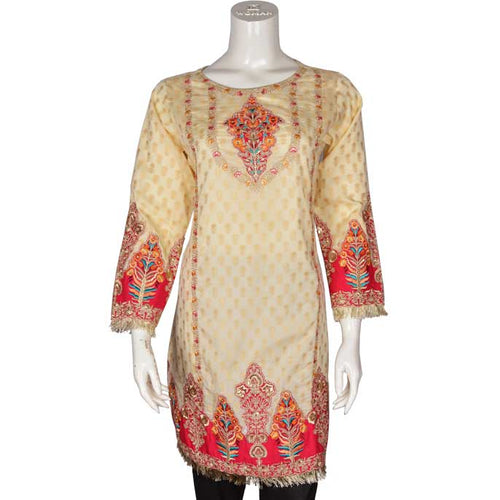 Women Stitched Kurti In Cream (WKF0017-CREAM)
