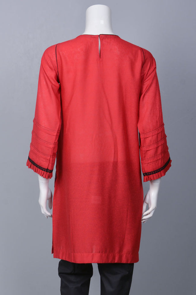Embroided Kurti WKF0052-Red