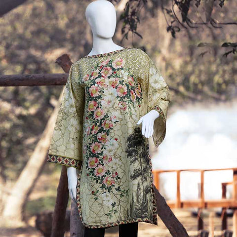 Digital Printed Stitched Kurti In Skin (WKL0030-SKIN)