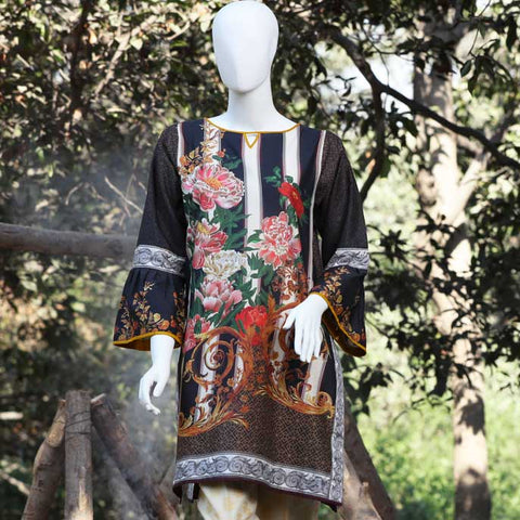 Digital Printed Stitched Kurti In Brown (WKL0031-BROWN)