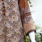 Digital Printed Stitched Kurti In Brown (WKL0036-BROWN)