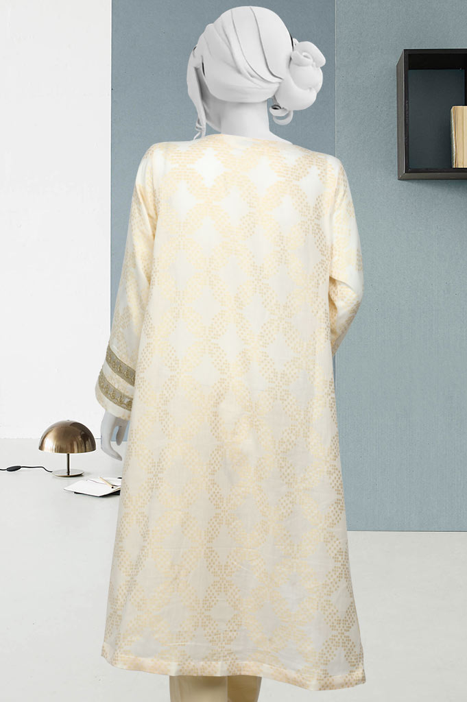 Women Stitched Kurti In Cream SKU: WKL0412