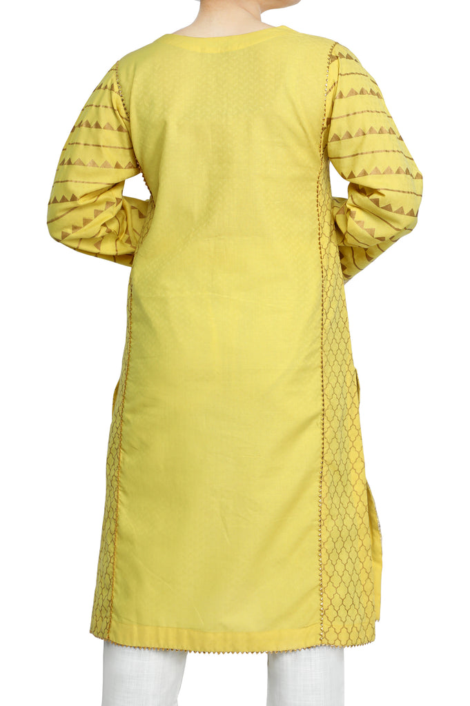Women Stitched Kurti In Yellow SKU: WKL0544-YELLOW - Diners