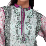 Digital Printed Stitched Kurti In Fushia (WKL0033-Fushia)
